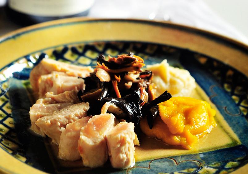 烤雞里肌佐節鮮蔬醬