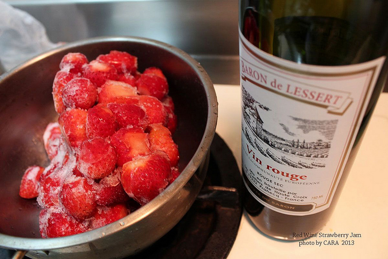"/ Cara Dessert"" 紅酒草莓果醬。Red Wine Strawberry Jam。"