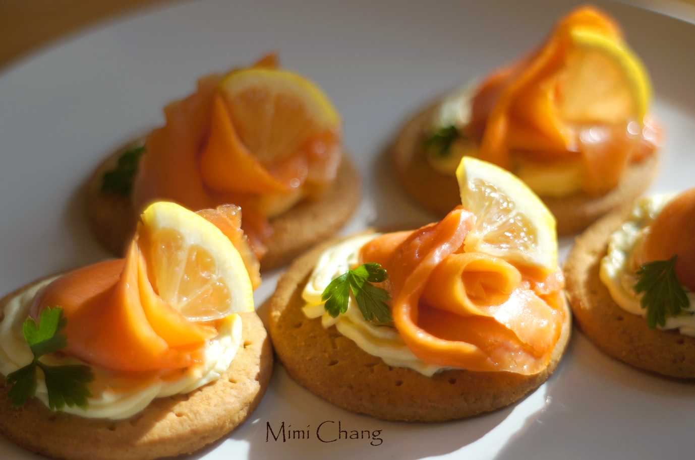 Mimi♥煙燻鮭魚起司點心◎smoked salmon cream cheese canapes