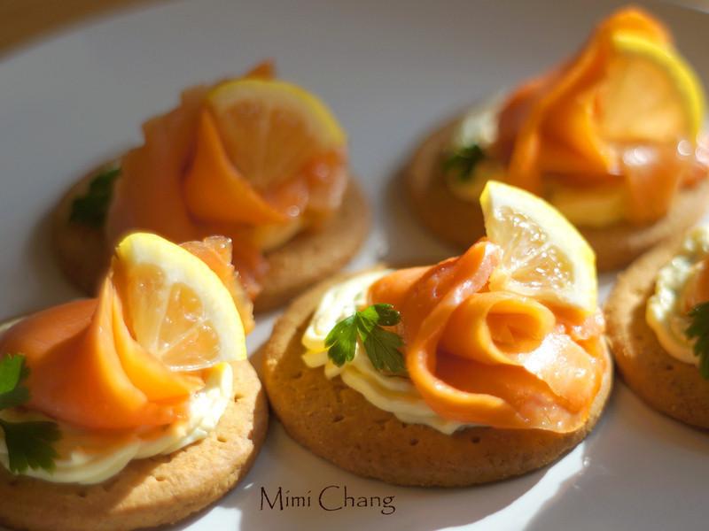 Mimi♥煙燻鮭魚起司點心◎smoked salmon cream cheese canapes