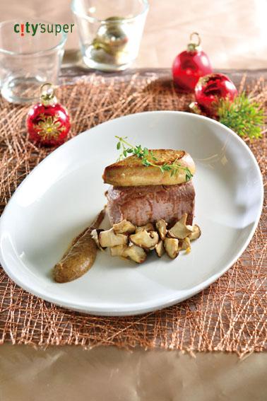 【歐洲聖誕饗宴】羅西尼牛排佐牛肝菌醬