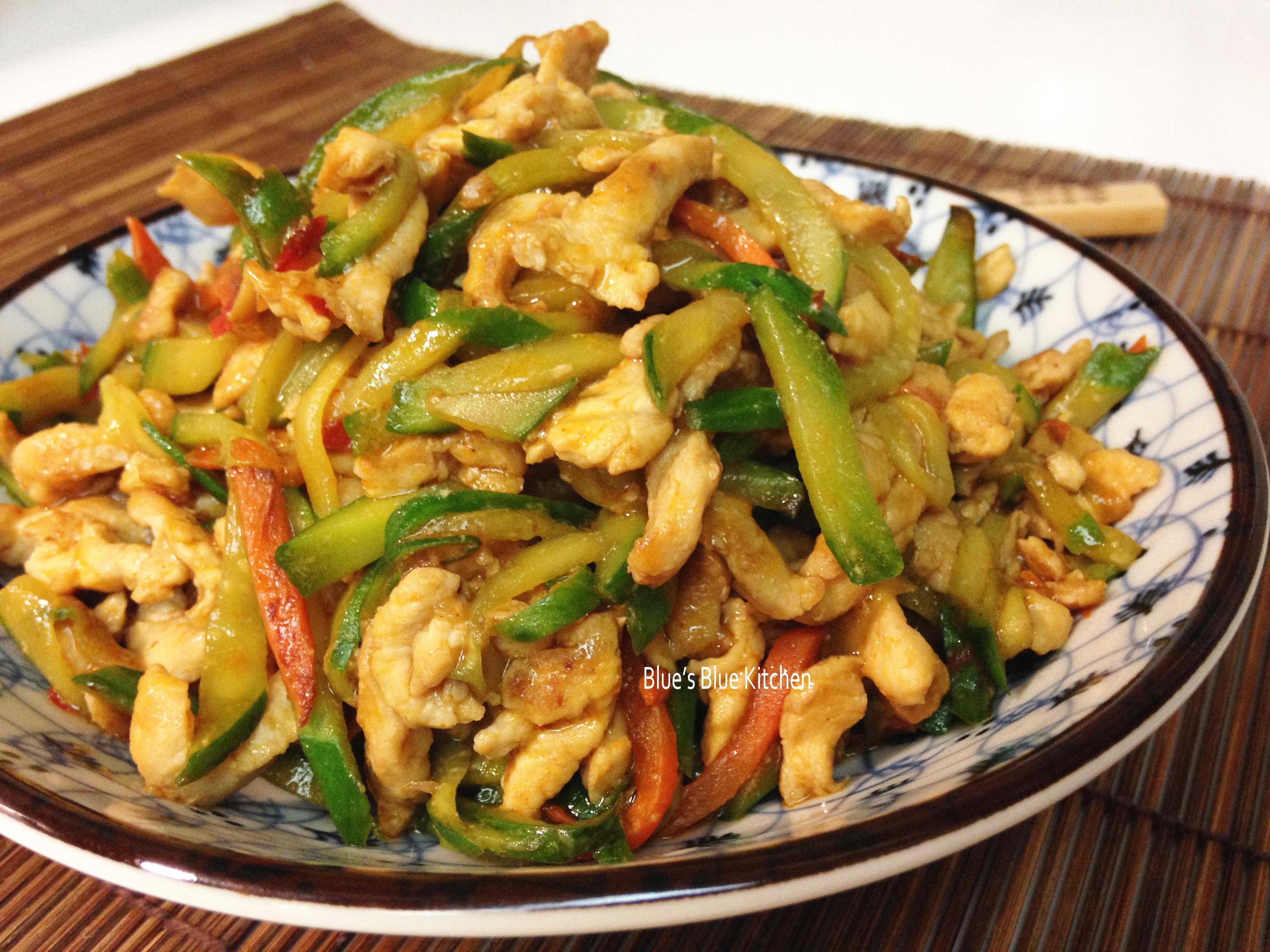十分鐘快手菜-辣豆瓣黃瓜雞柳