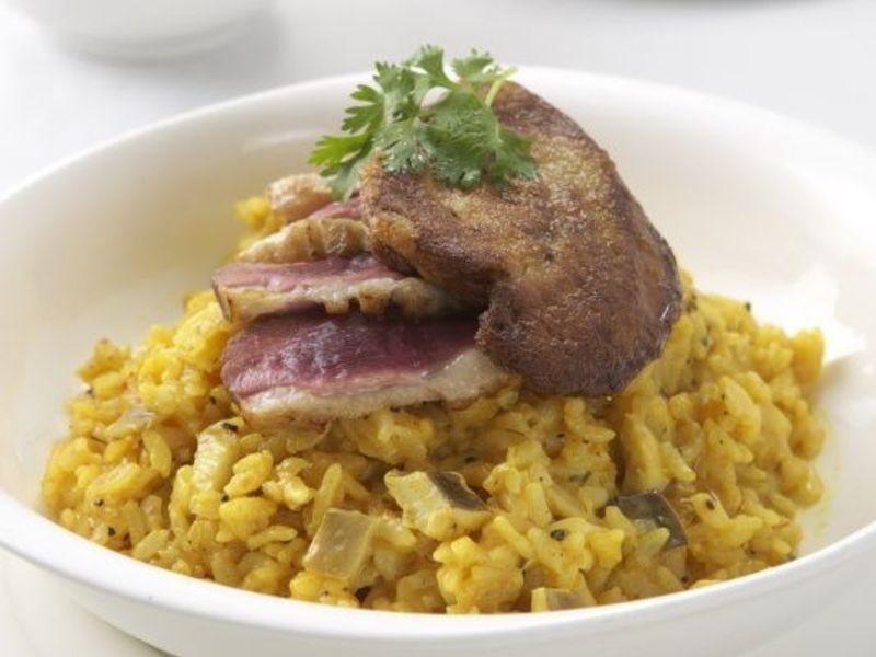 野菇鴨肉肝燉飯