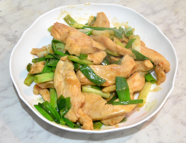 [awei 料理]蔥燒雞柳