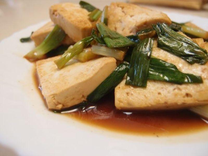 新手人妻料理:蔥燒豆腐