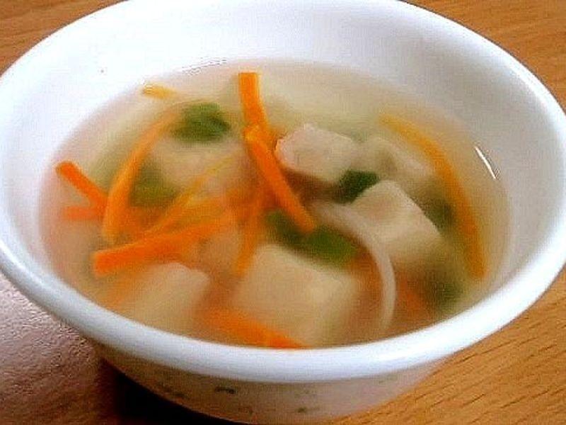 暖身清淡芋粿湯