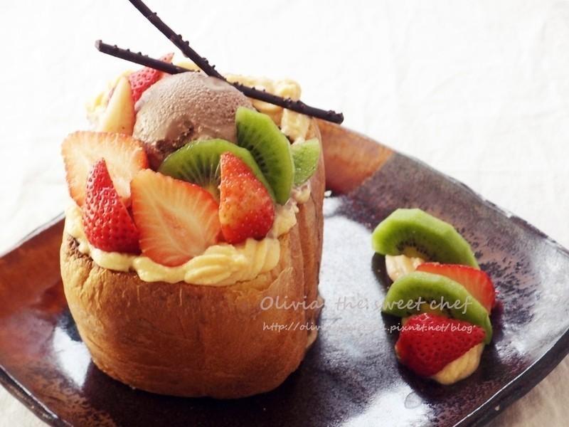 Olivia♥巧克力鮮果蜜糖土司