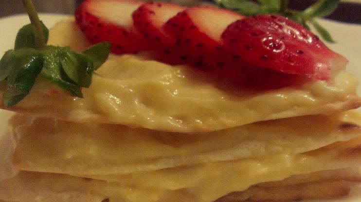 迷你版草莓千層派