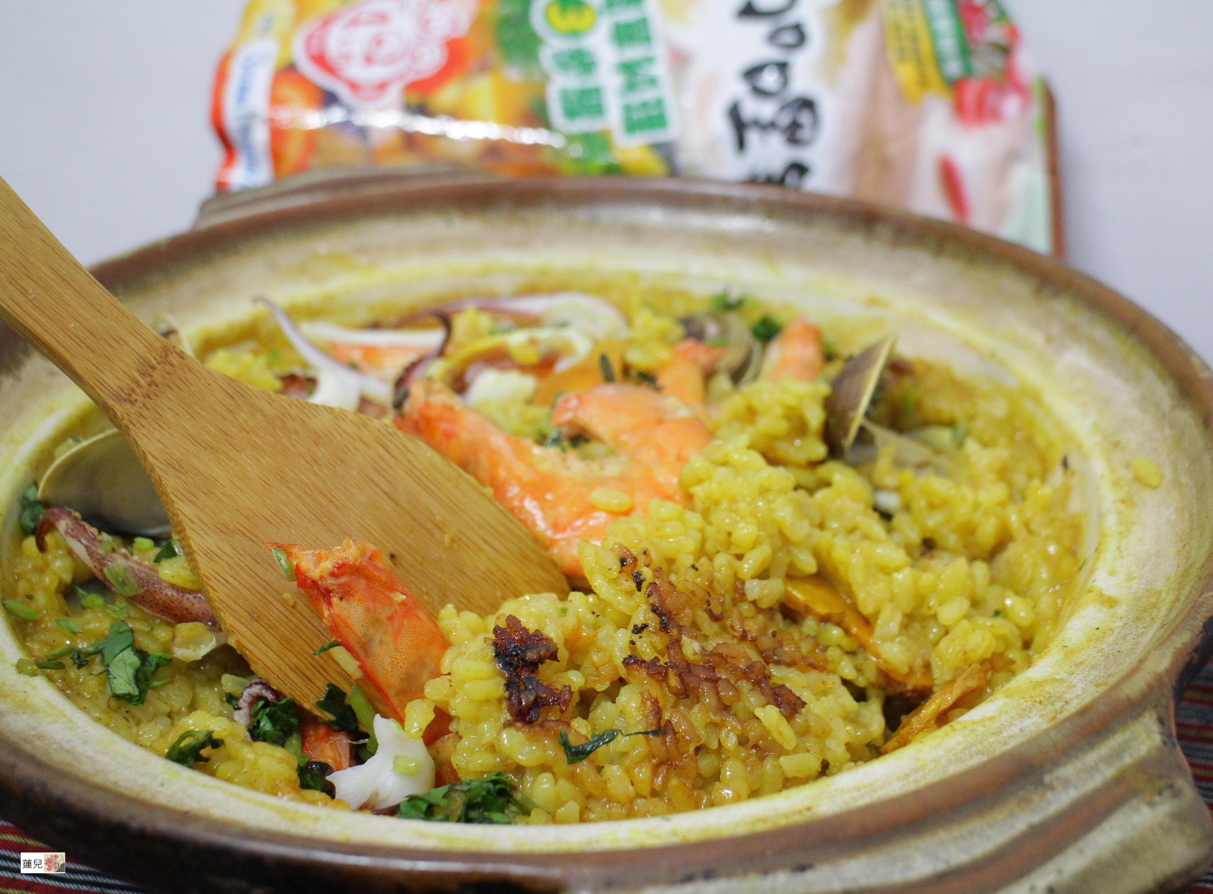 薑黃咖哩海鮮飯【可果美咖哩火鍋高湯】