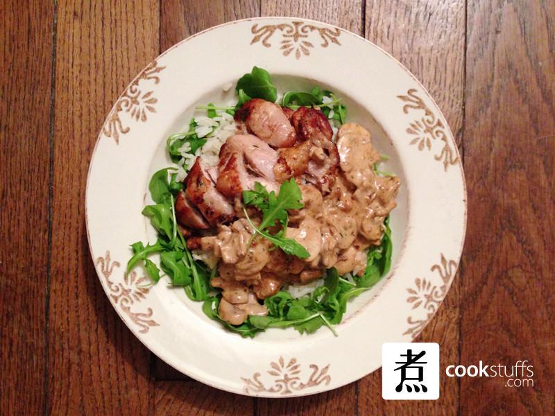 【煮事】法式蘑菇雞肉醬汁