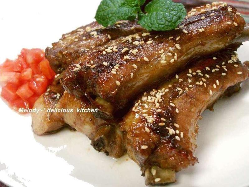 蔥燒蜜味豬肋排(免烤箱)