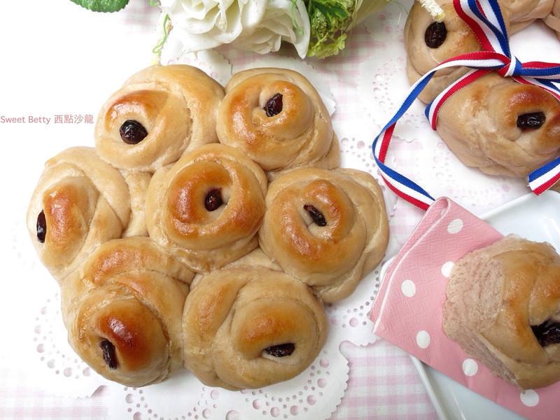 蔓越莓玫瑰麵包