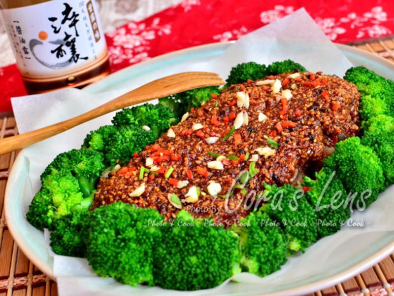 椒麻醬汁烤豬肋排 【淬釀年菜料理】