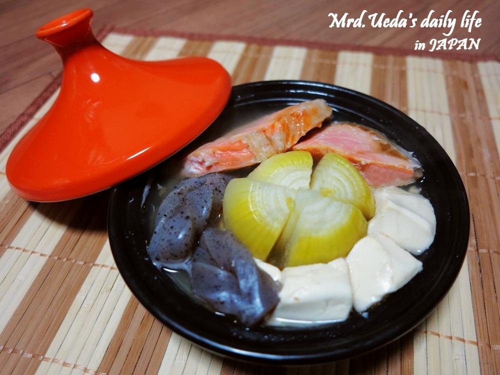 日式鮭魚洋蔥豆腐蒸