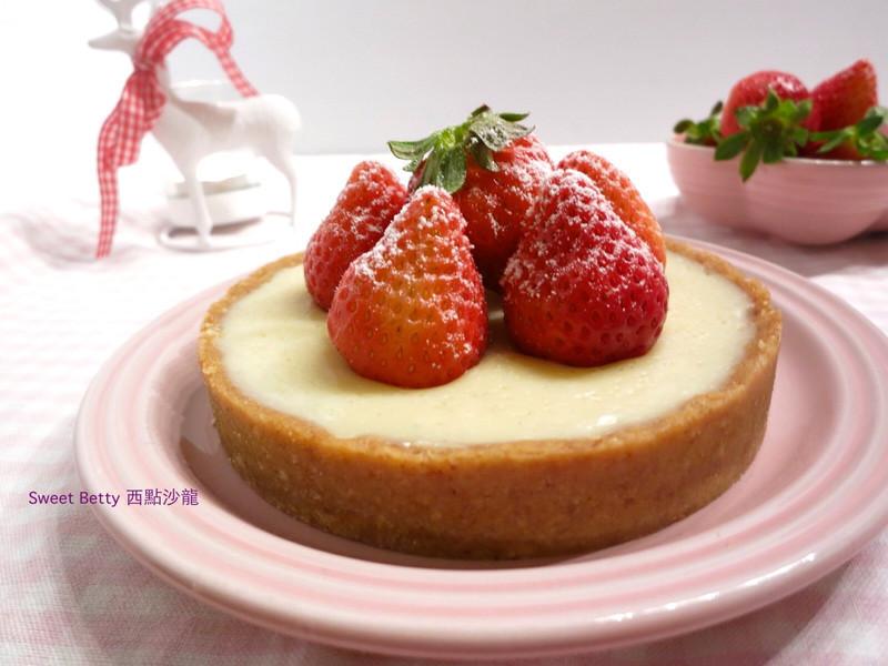 白巧克力草莓塔~免烤箱