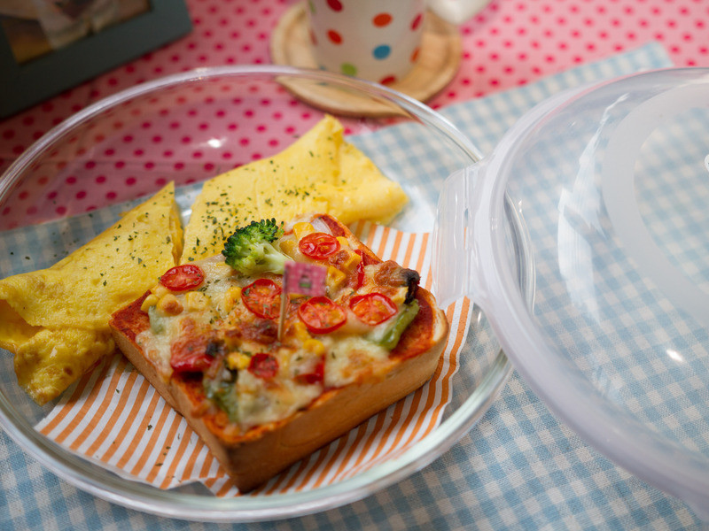 【吳双の早午餐】樂扣樂扣比薩吐司佐歐姆蛋