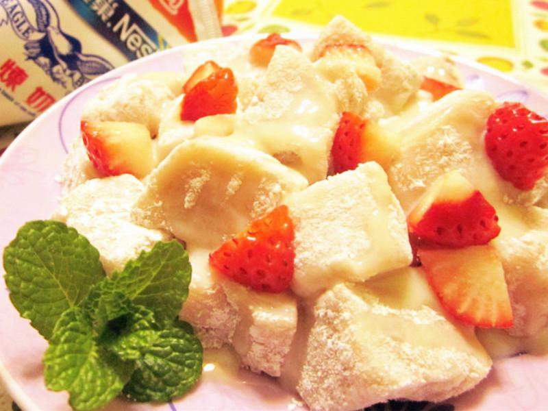 草莓煉奶QQ涼糕