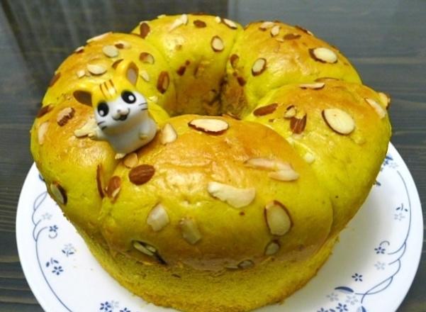 南瓜堅果麵包 [用電鍋發酵]
