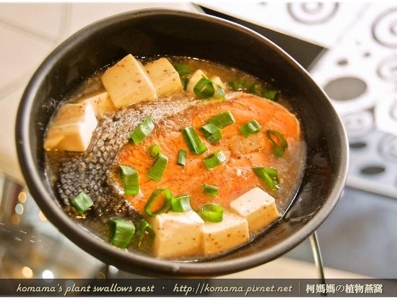黑木耳鮭魚味噌湯.柯媽媽の植物燕窩