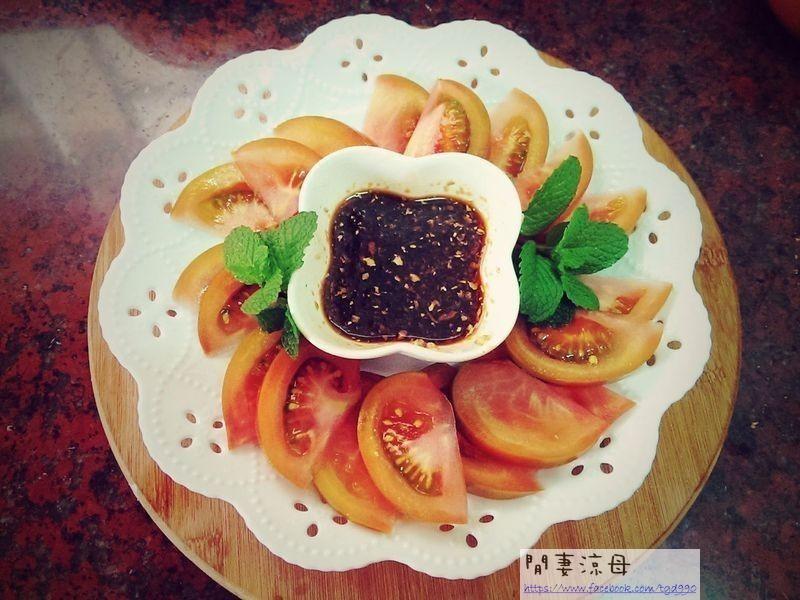 黑柿番茄加薑母沾醬之[穀盛壽喜燒]