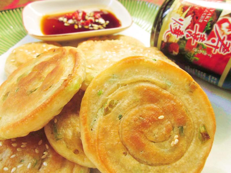 外酥內Q蔥油餅(免揉.15分)