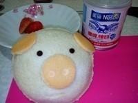 小豬草莓煉乳口袋吐司~草莓就愛鷹牌煉乳