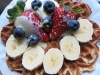 草莓煉乳鬆餅【草莓就愛鷹牌煉奶】