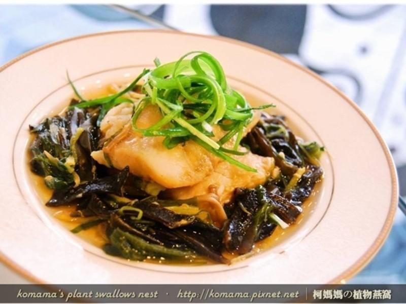 麻辣黑菇醬清蒸魴魚排.柯媽媽の植物燕窩