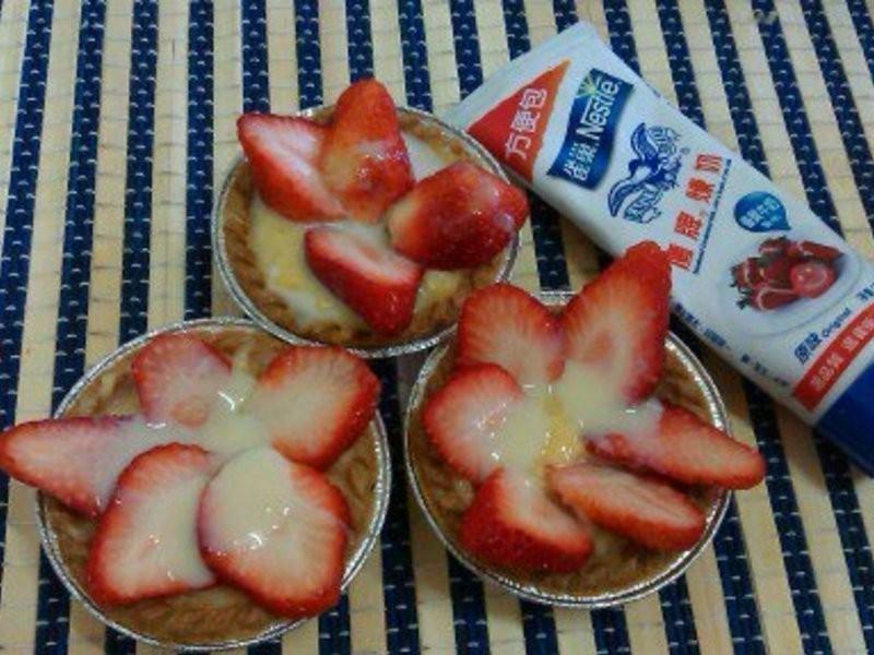 甜蜜的滋味草莓塔【草莓就愛鷹牌煉奶】