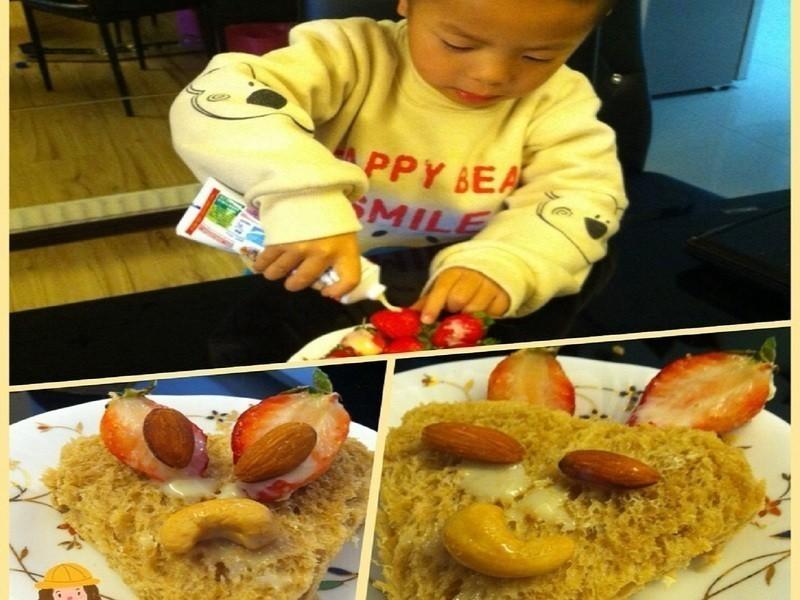 創意早餐DIY-草莓就愛鷹牌煉奶
