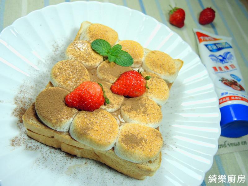 草莓棉花糖土司【草莓就愛鷹牌煉奶】