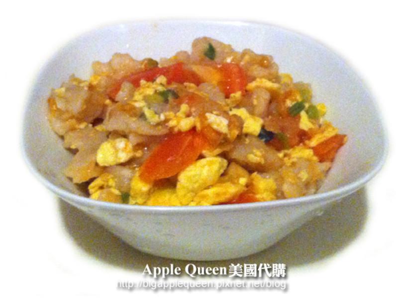 番茄蛋炒麵疙瘩~Tomato fried eggs with  trickled pastry!