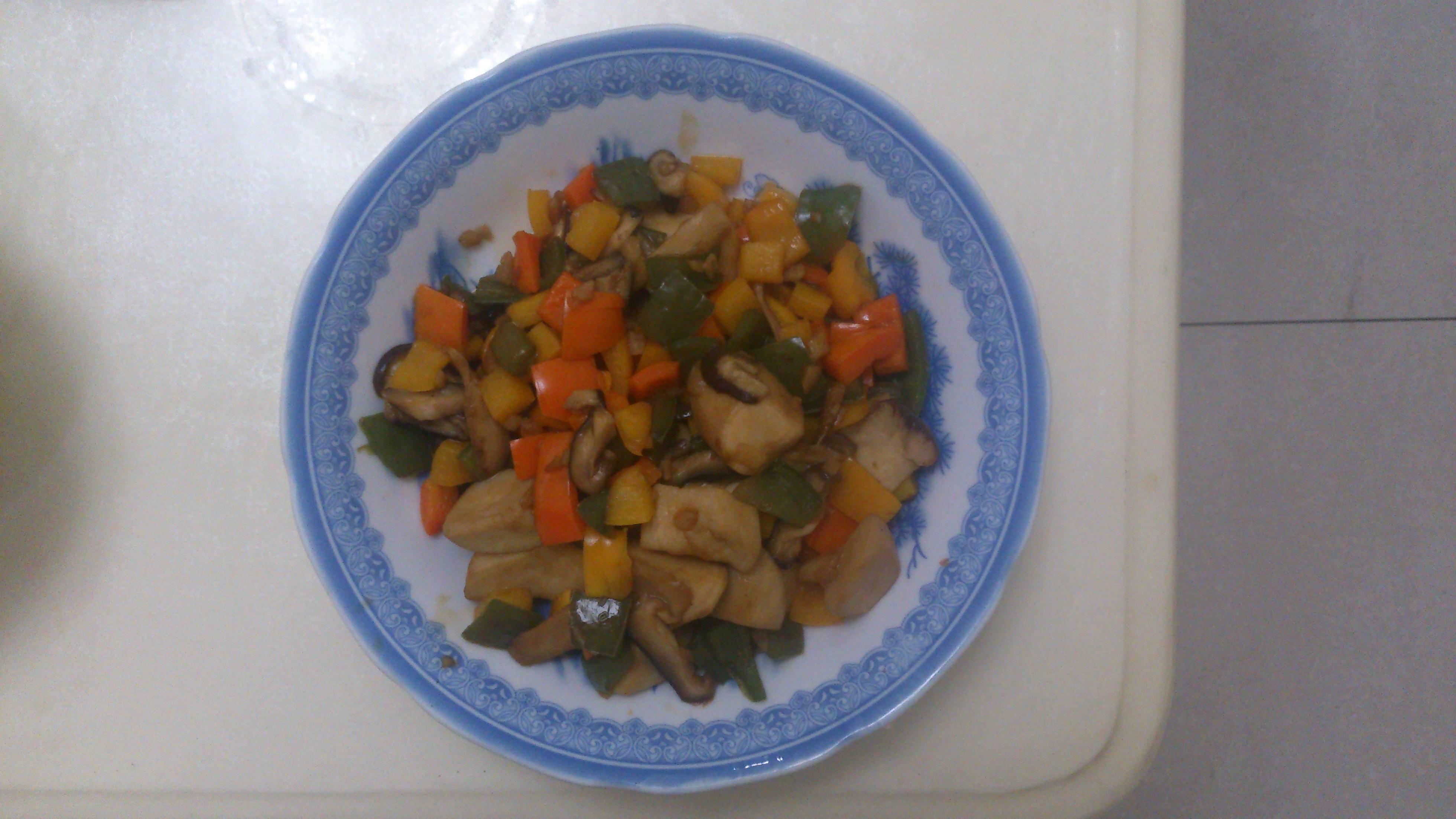 蠔油炒椒菇