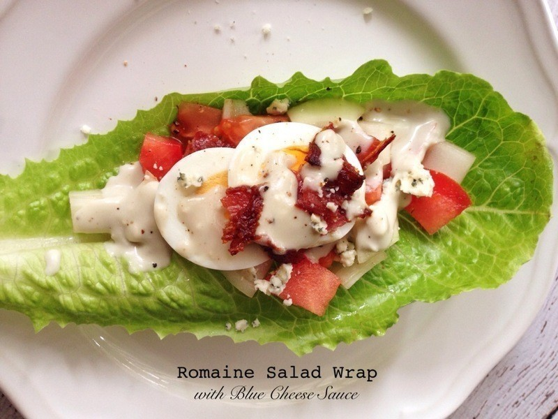 藍黴乳酪沙拉捲 Romaine Salad Wrap with Blue Cheese Sauce
