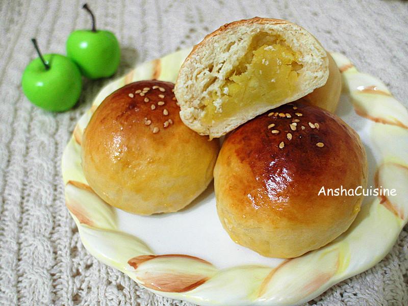 免揉。甜心地瓜麵包