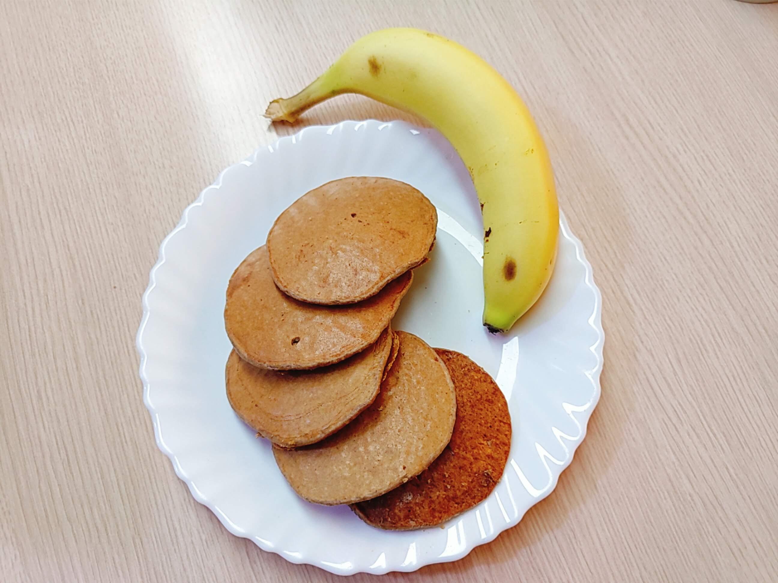 香蕉燕麥高蛋白鬆餅(可可風味)無油無麵粉
