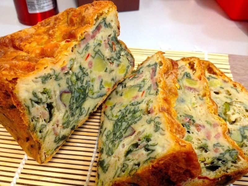 法式鹹蛋糕(菠菜培根風味)『Panasonic製麵包機』