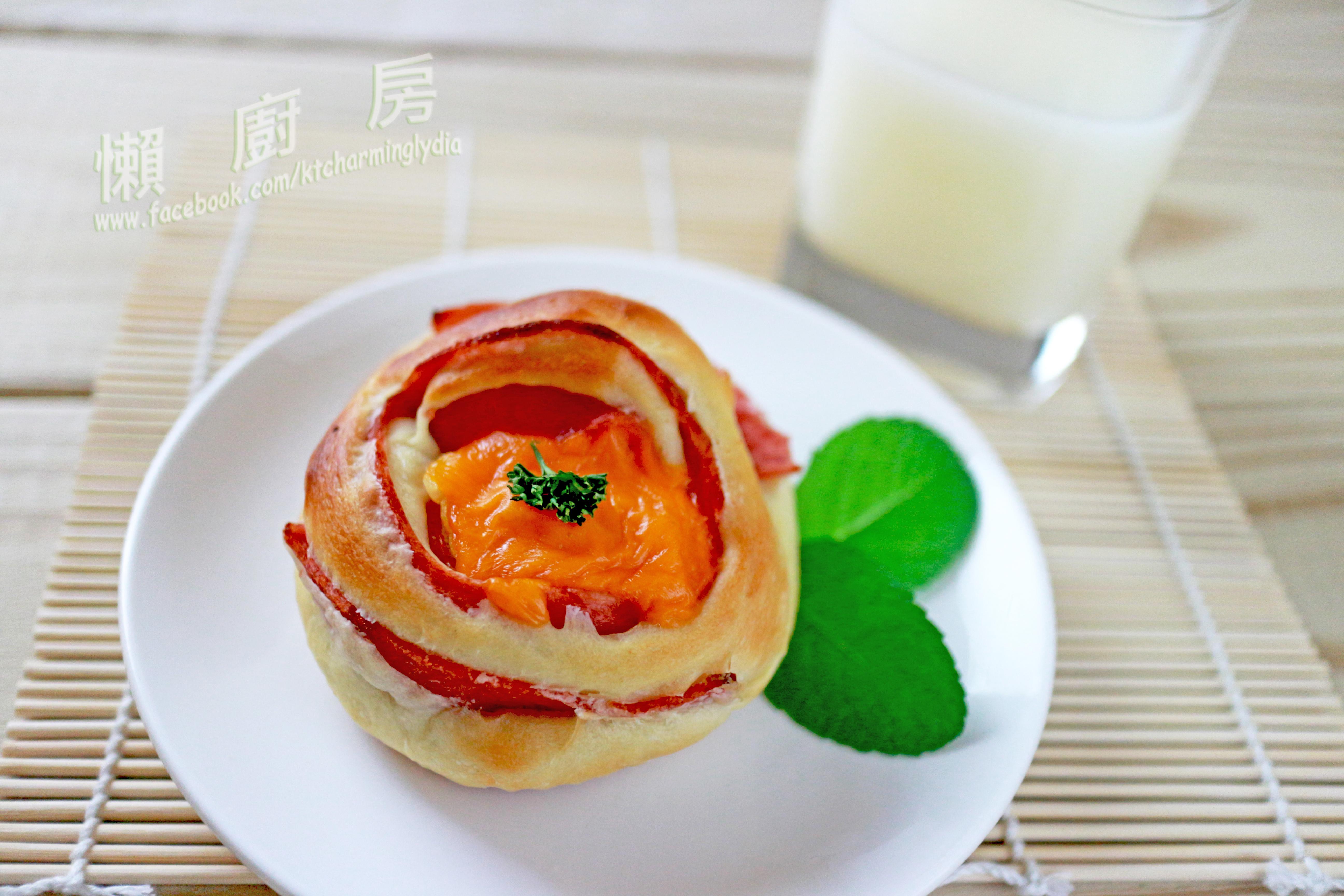 洋蔥火腿起司麵包『Panasonic製麵包機』