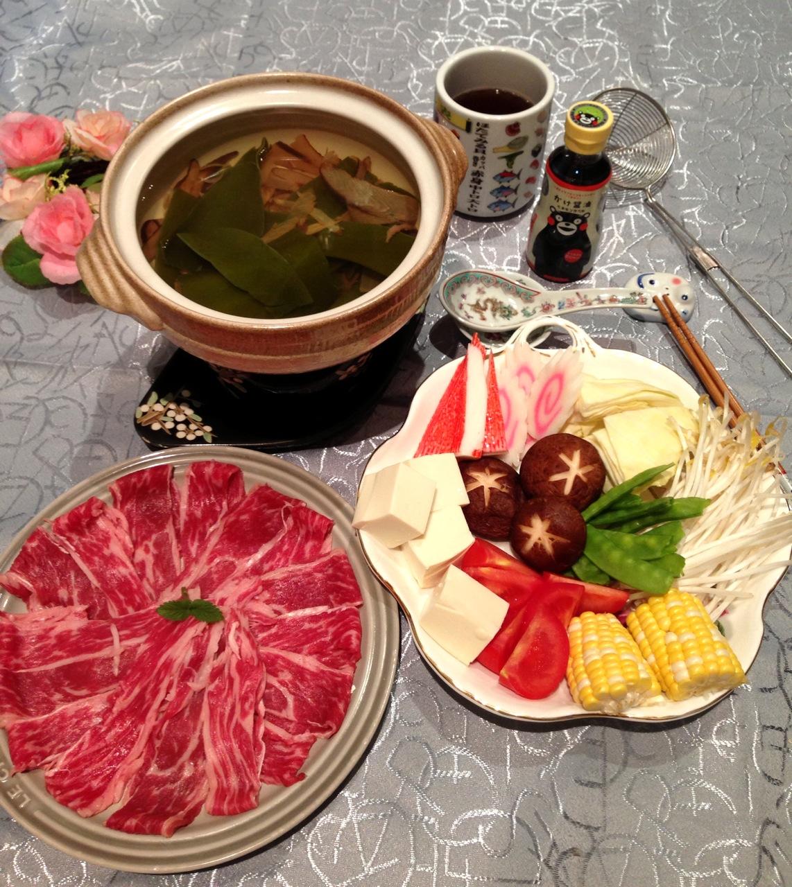 日式柴魚昆布牛肉火鍋