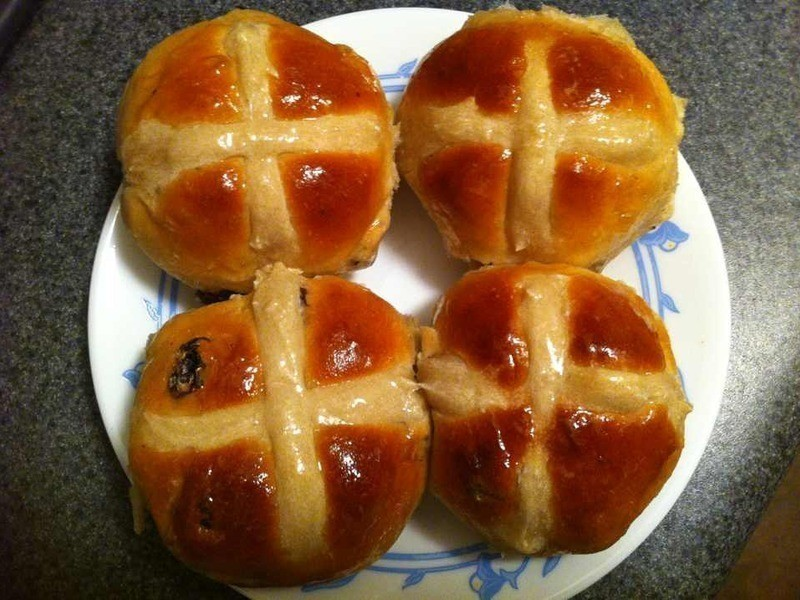 復活節熱十字麵包 Easter hot cross buns