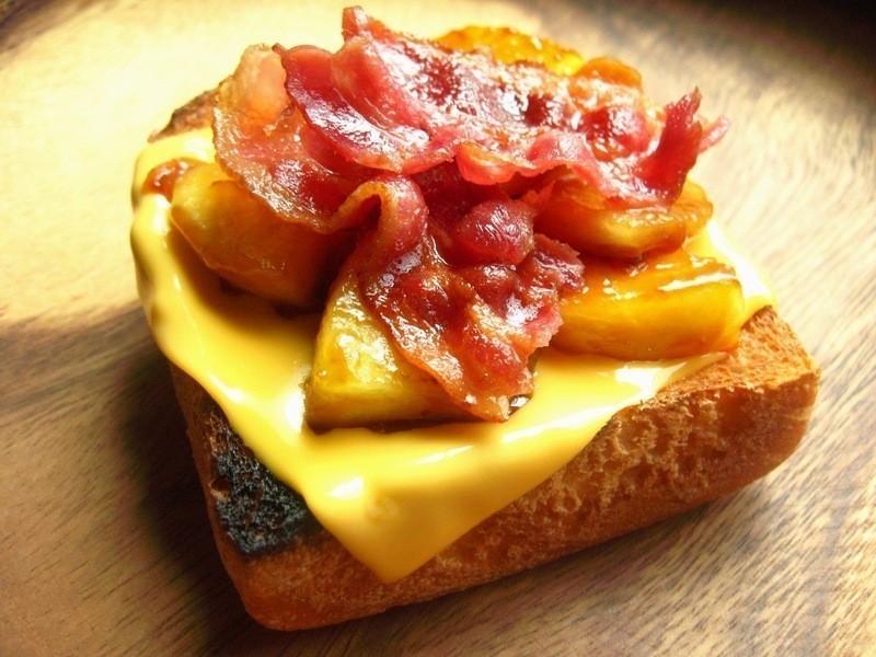 培根蘋果醬起司三明治(博客培根)
