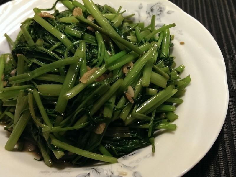 自製蝦醬空心菜