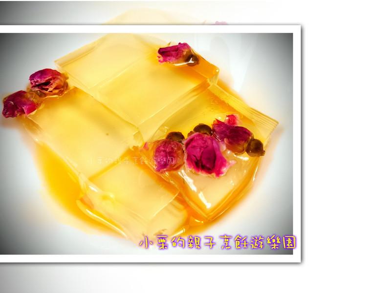 玫瑰花石花凍