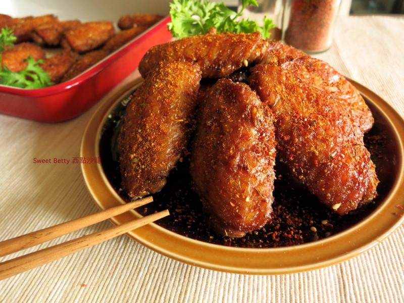 辣味烤咖哩雞翅