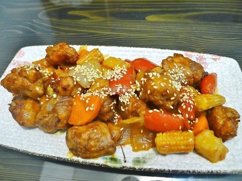 雞肉蔬菜燴黑醋醬