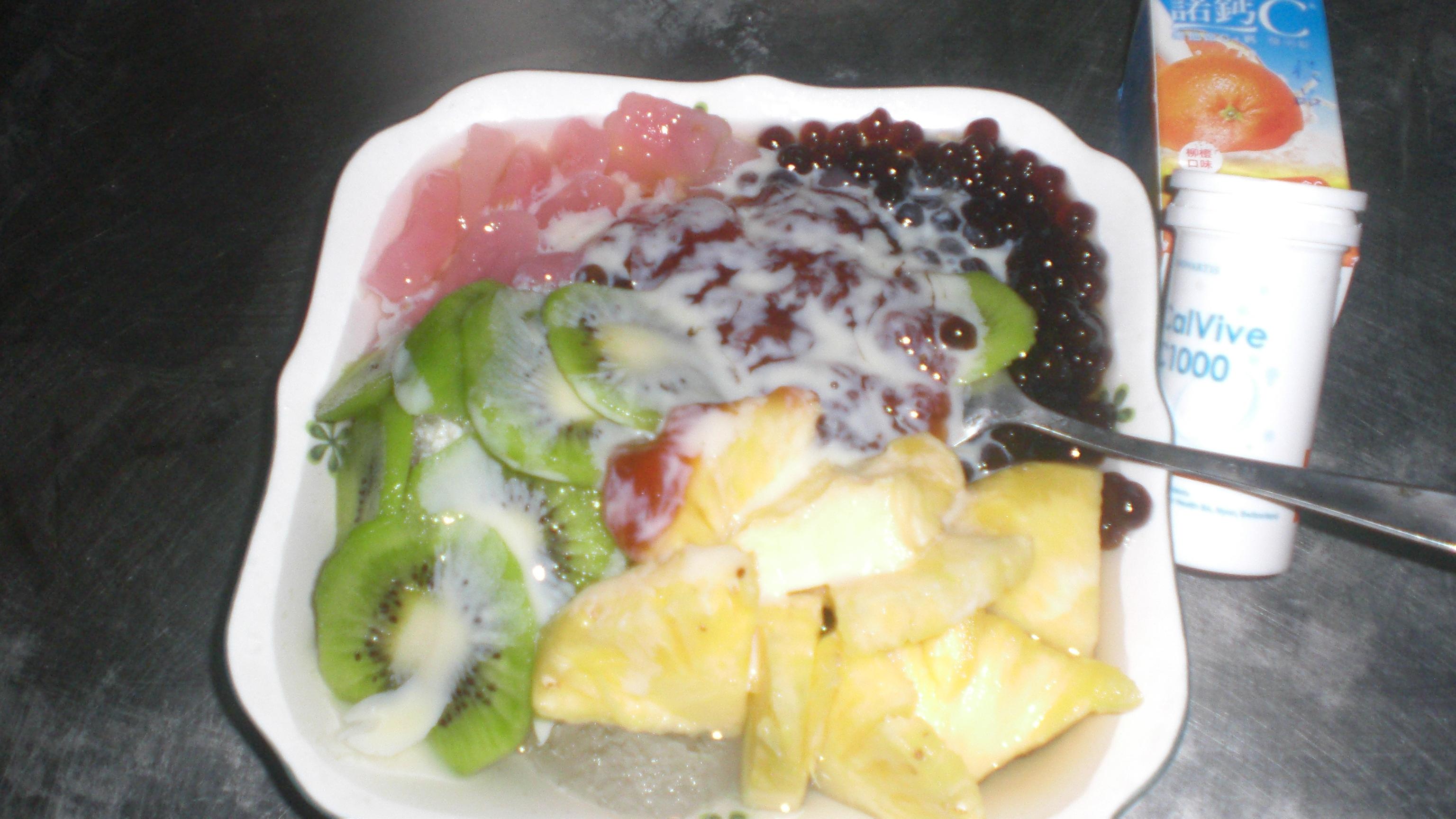 粉圓水果剉冰 『諾鈣C發泡錠』