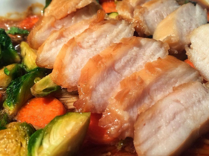 日式蜜汁烤雞肉蔬菜