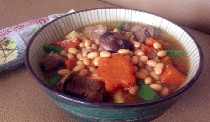黃豆燒牛腩麵【五木麵條】