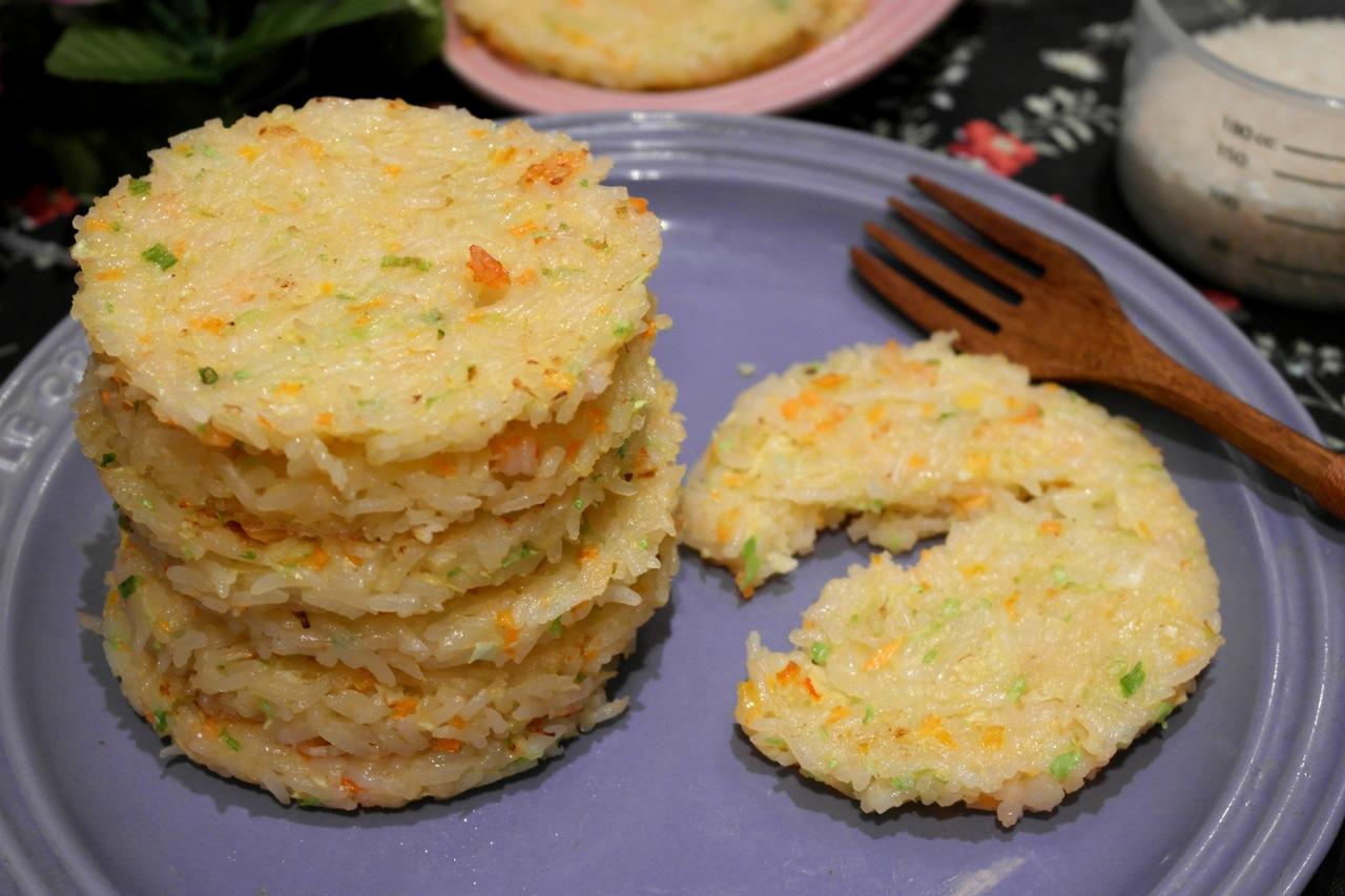 蝦肉蔬菜煎米餅