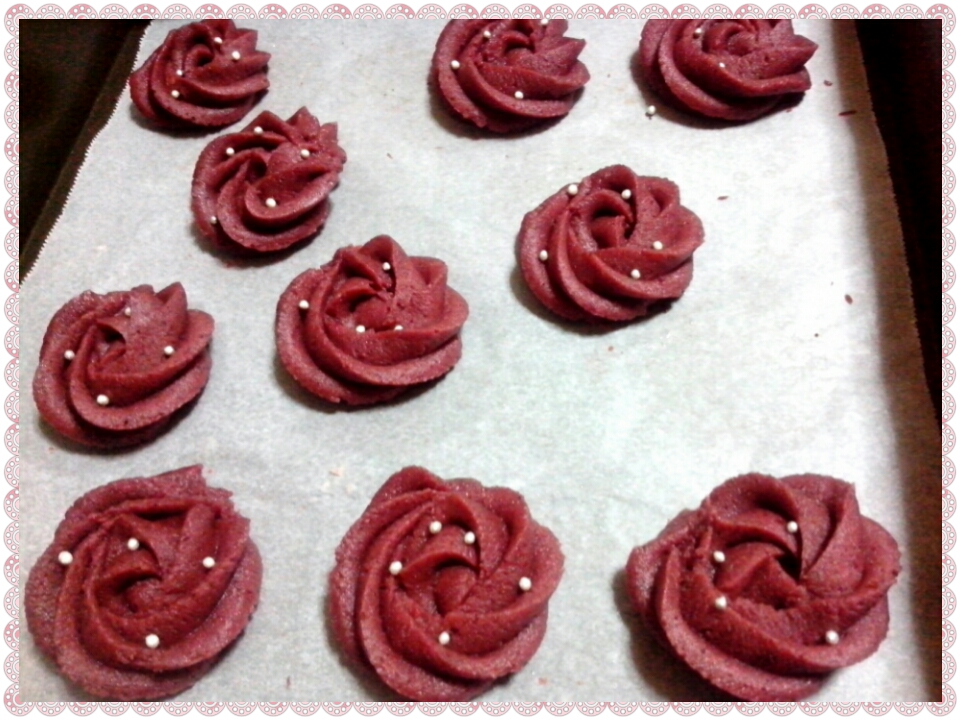 *~紅麴玫瑰餅乾~*